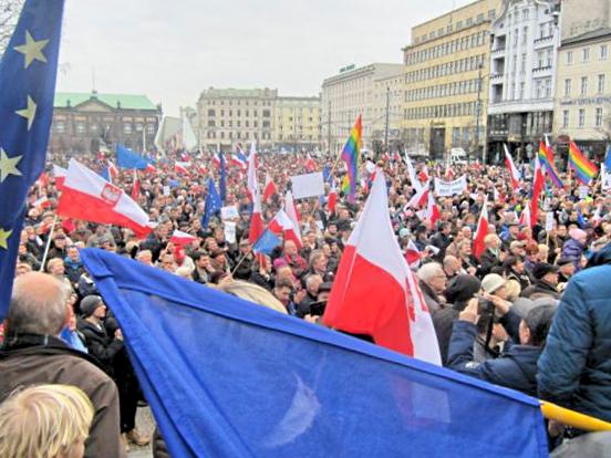 Demonstracja KOD - Magdalena Konieczna