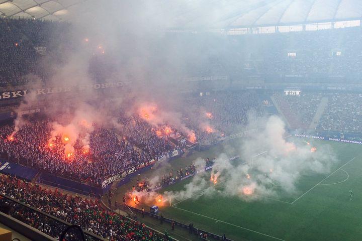 race na boisku, Lech-Legia, Puchar Polski - Anna Adamczyk