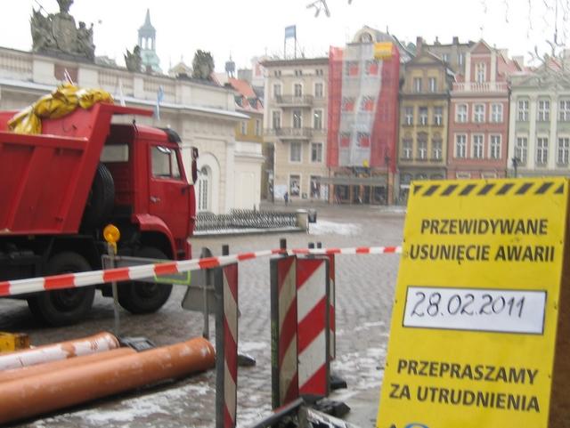 Awaria na Starym Rynku - Aquanet - Anna Skoczek