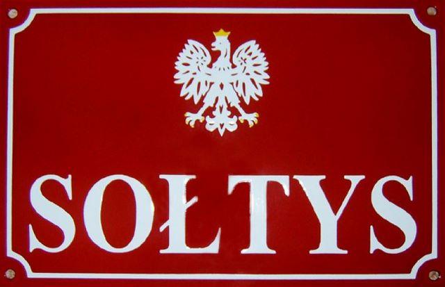 Sołtys - tabliczka