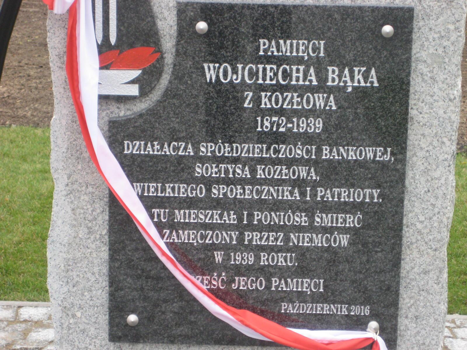 pomnik wojciecha bąka - Rafał Muniak