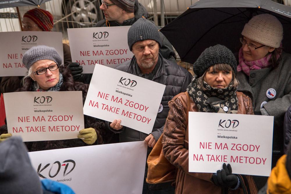 protest KODu ws Piniora (3) - Leon Bielewicz