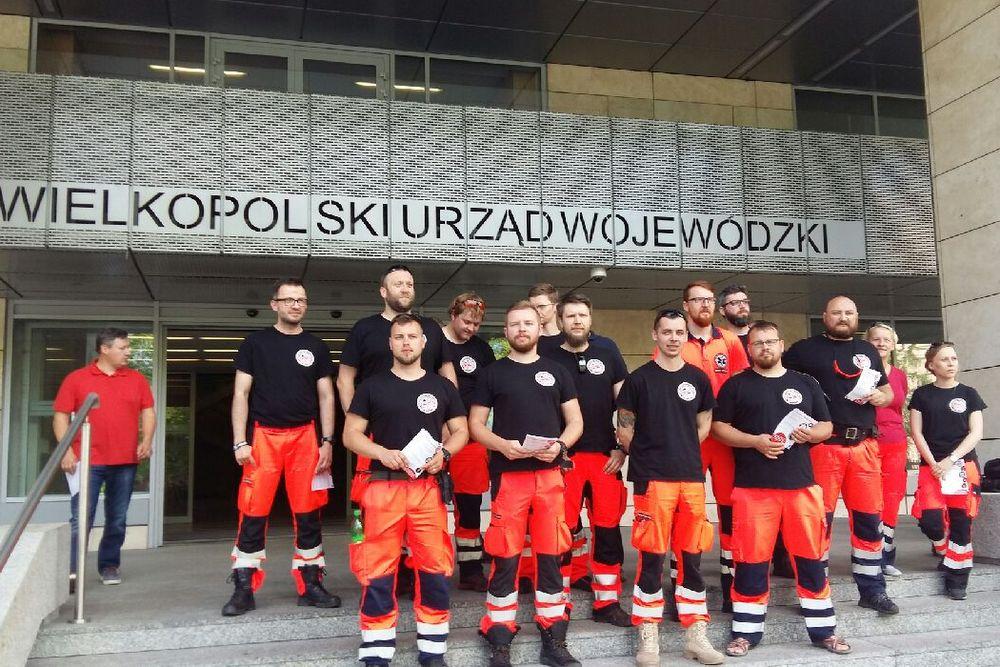protest ratowników pod wuw - Magda Konieczna