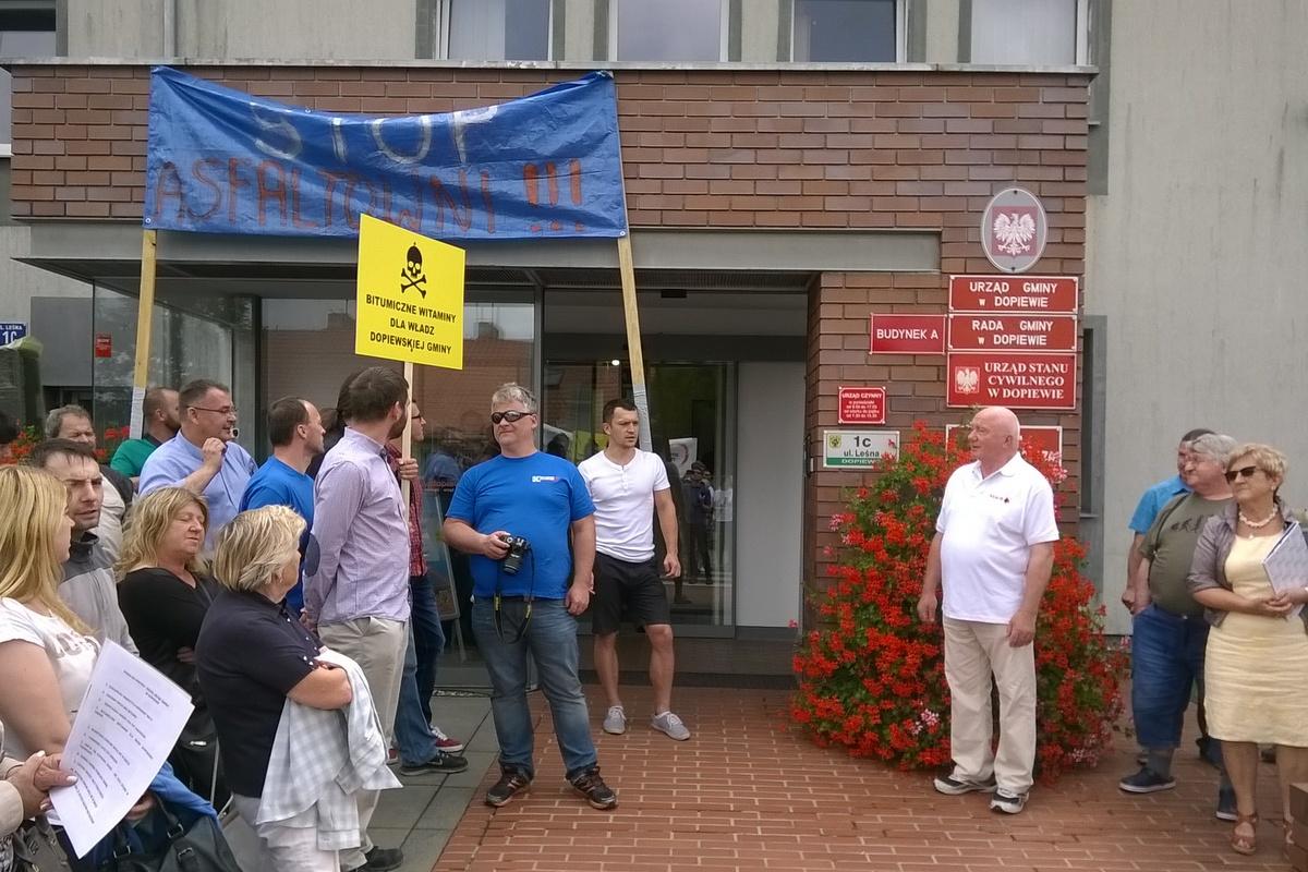 protest w Dopiewie - Jacek Butlewski