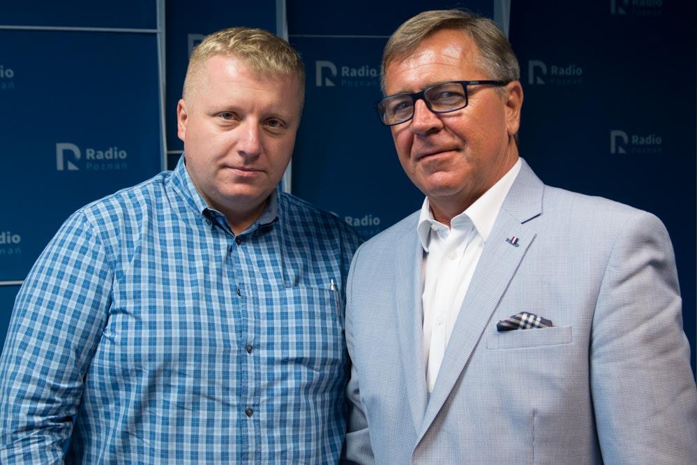 Jan Grabkowski i Emil Rau w Radiu Poznań 2017 - Leon Bielewicz