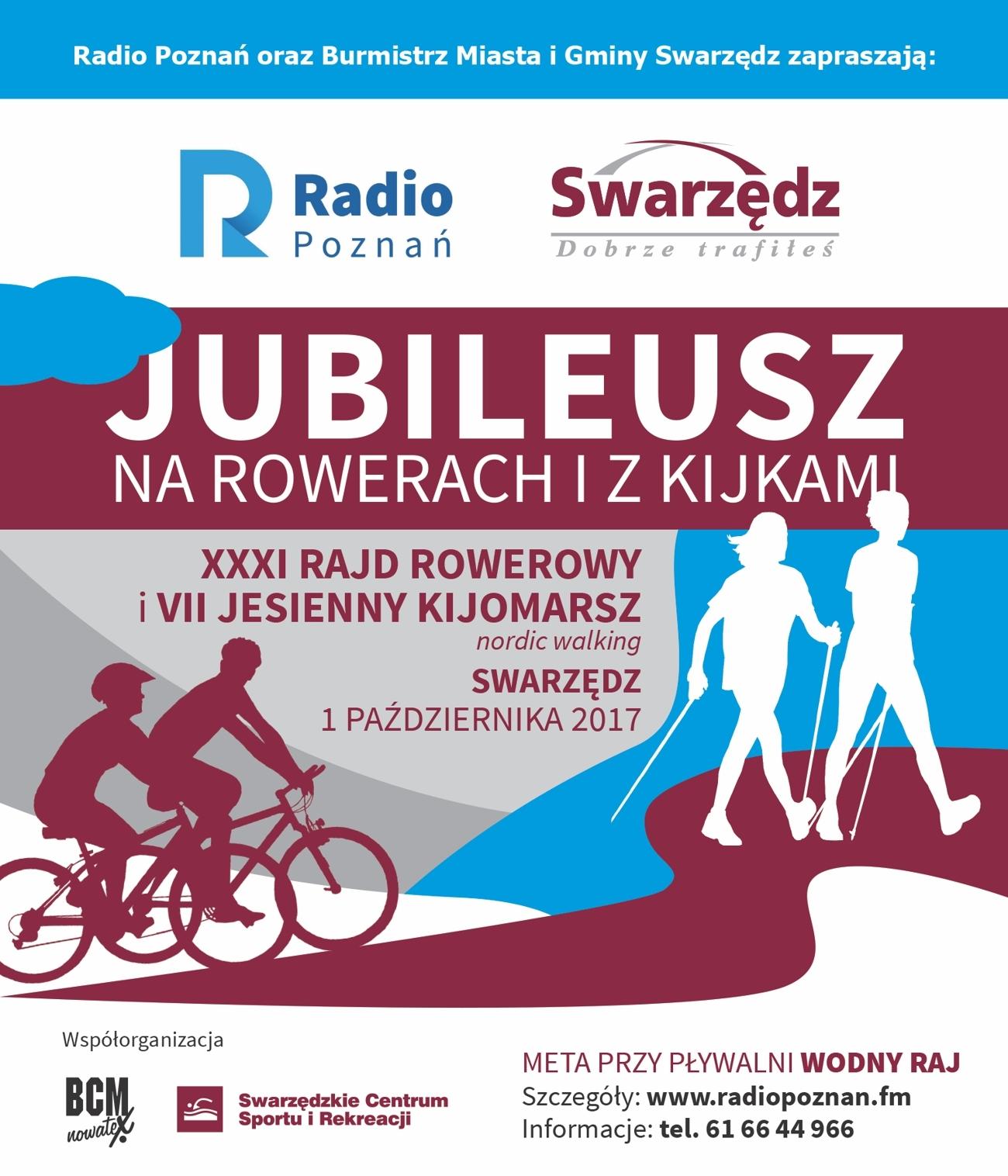 Plakat 31 raj rowerowy kijomarsz Swarzędz - Radio Poznań