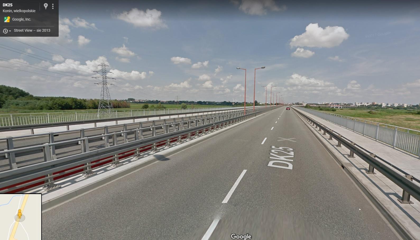 most w koninie - Street View (Google Maps)
