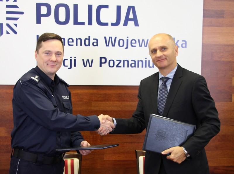 podpisanie umowy policja kalisz - KPP Kalisz