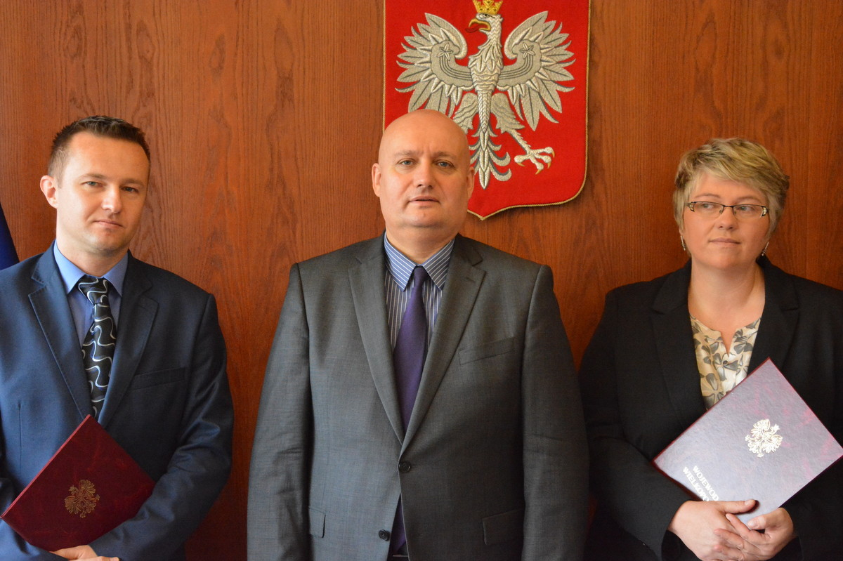 pełnomocnicy wojewody Tomasz Małyszka i Dorota Stawicka - Wielkopolski Urząd Wojewódzki w Poznaniu