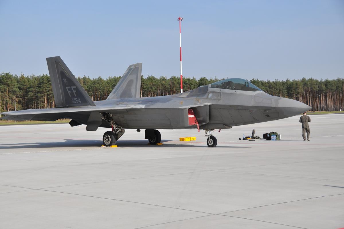 F-22 Raptor w Powidzu - kpt. Martyna Fedro-Samojedny - 3.SLTr