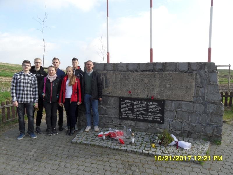 Kocin, miejsce egzekucji.  ZSOiZ w Trzemesznie.
