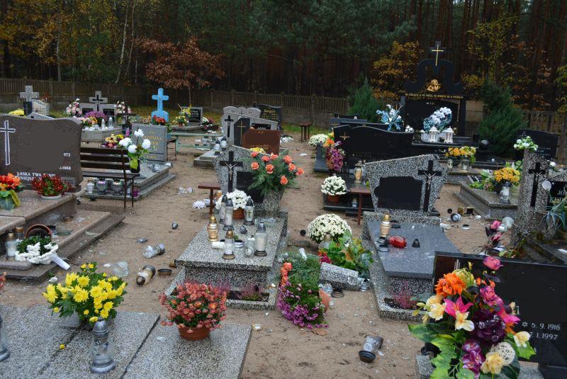 cmentarz wandale2 - Przemysław Stochaj