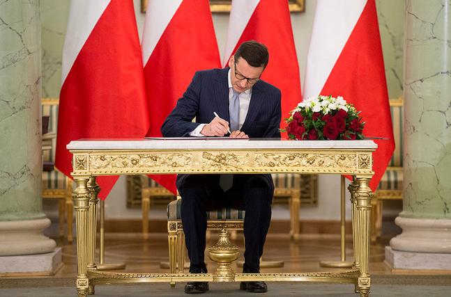 premier Mateusz Morawiecki zaprzysiężenie rekonstrukcja rządu - Twitter/Kancelaria Premiera