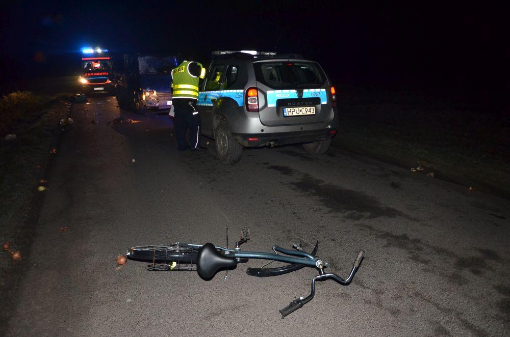 potrącenie rowerzysty - KMP Konin