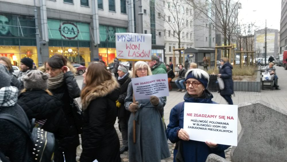 myśliwi protest - Jacek Butlewski