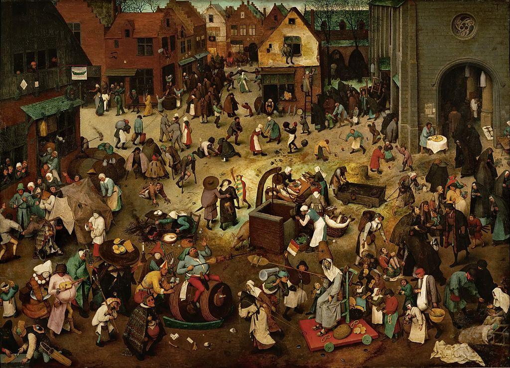 walka karnawału z postem - Pieter Bruegel Starszy, Walka karnawału z postem - CC: Wikimedia Commons: The Yorck Project: 10.000 Meisterwerke der Malerei
