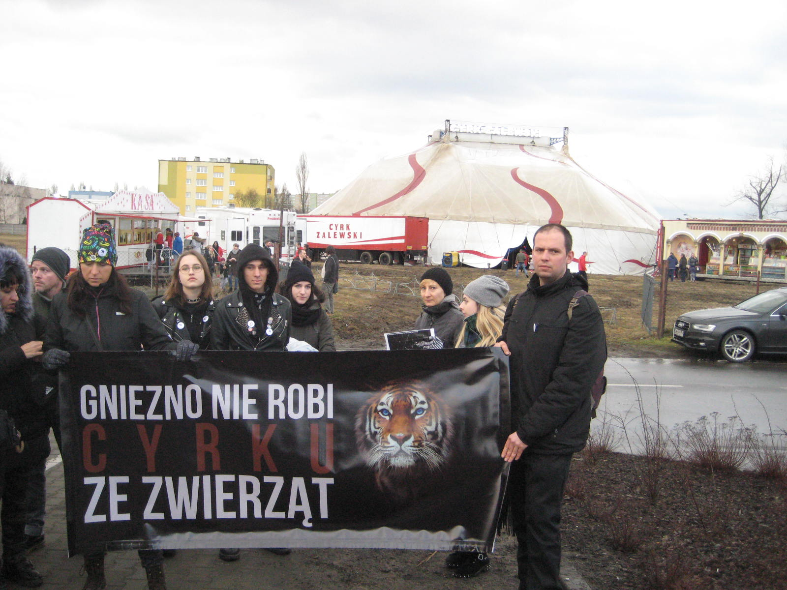 cyrk protest Gniezno - Rafał Muniak