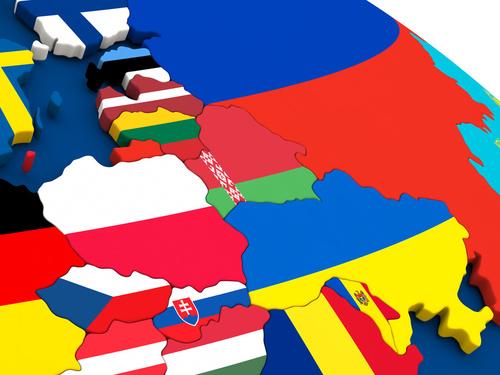 Europa mapa flagi - Fotolia