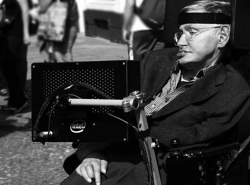 Steven Hawking  - CC: Wikimedia Commons: Doug Wheller