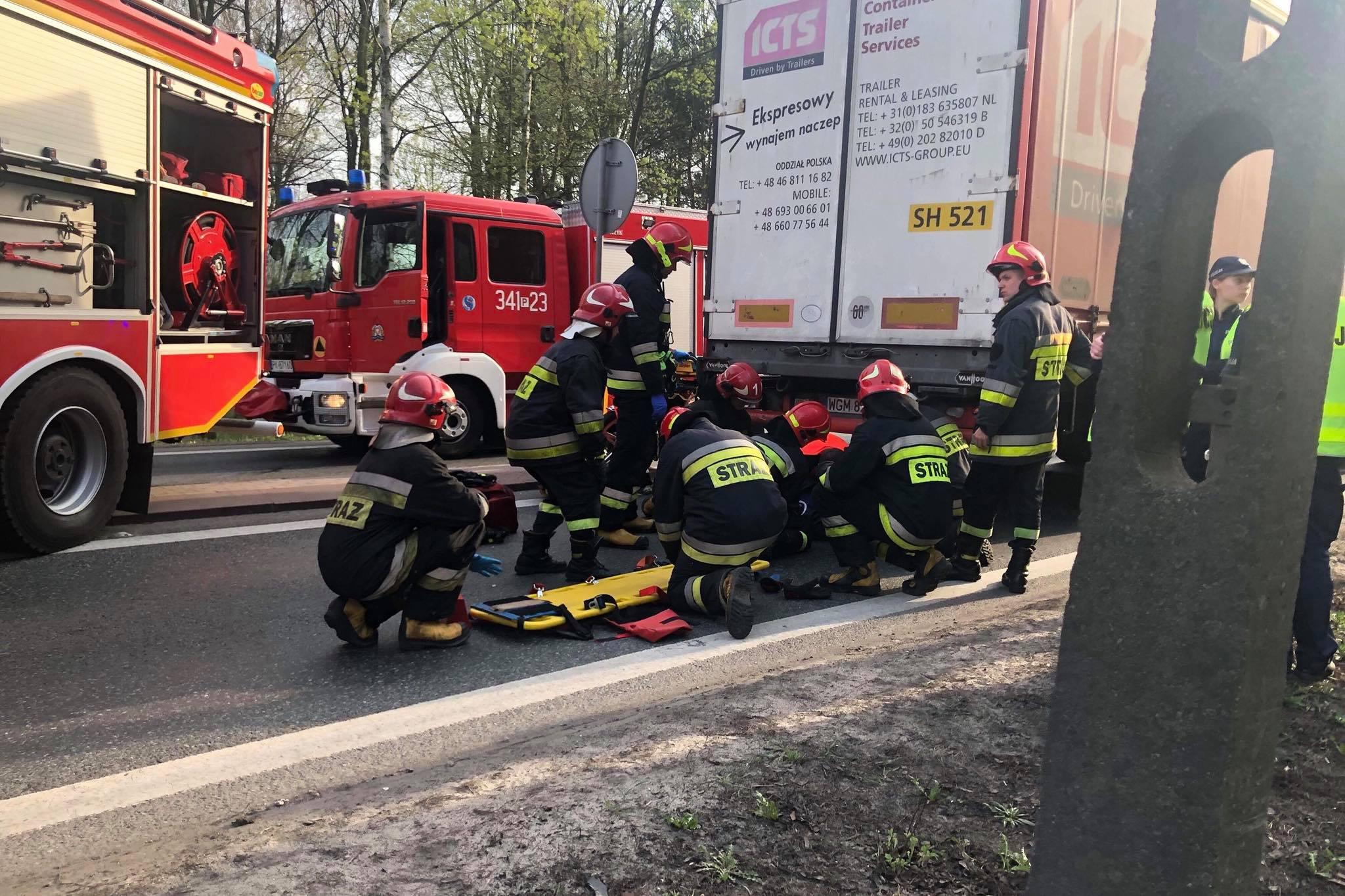 wypadek motocyklista - Kalisz24 INFO