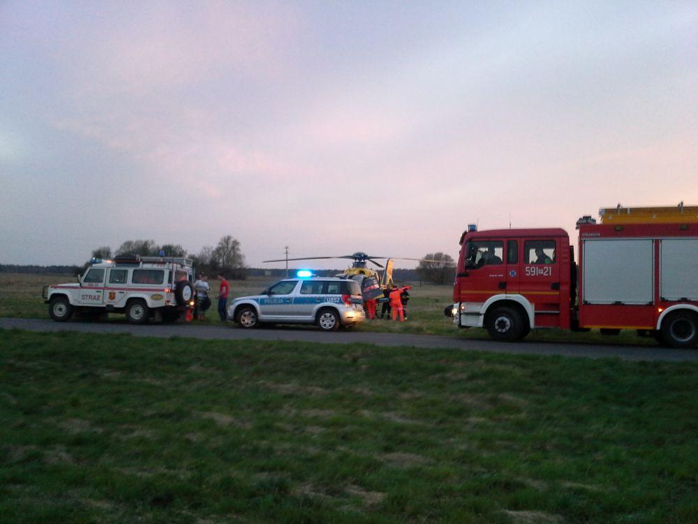 strażacy akcja most - Andrzej Ciborski