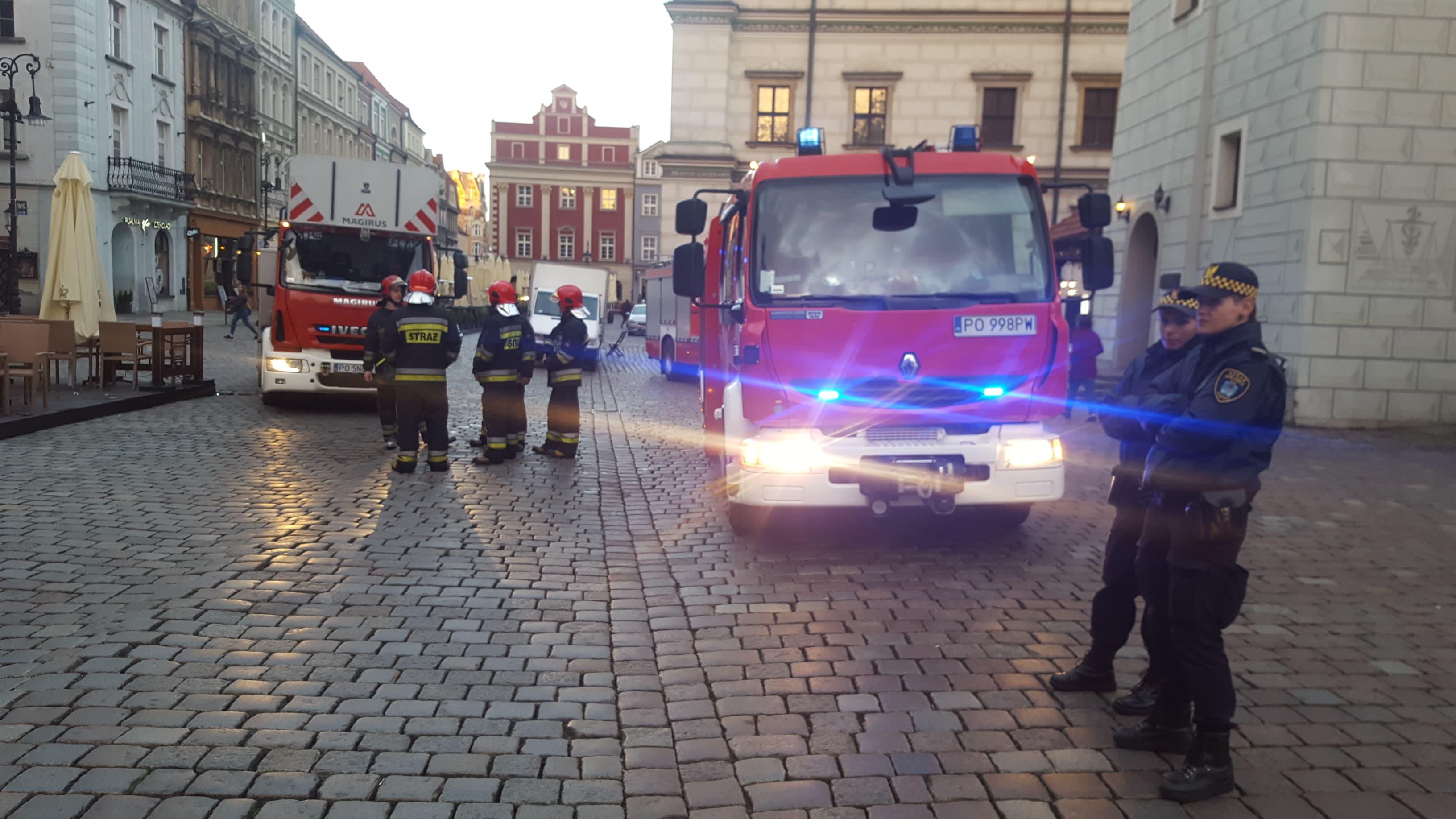 pożar rynek  - Michał Jędrkowiak