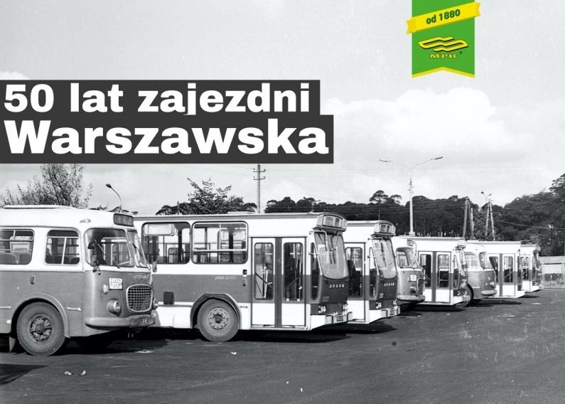 zajezdnia warszawska 50 lat plakat - MPK Poznań