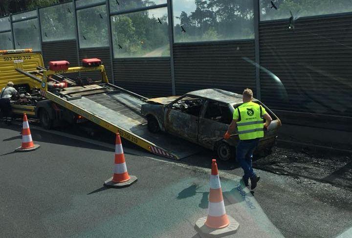 pożar samochodu S11 - Szymon Sulima