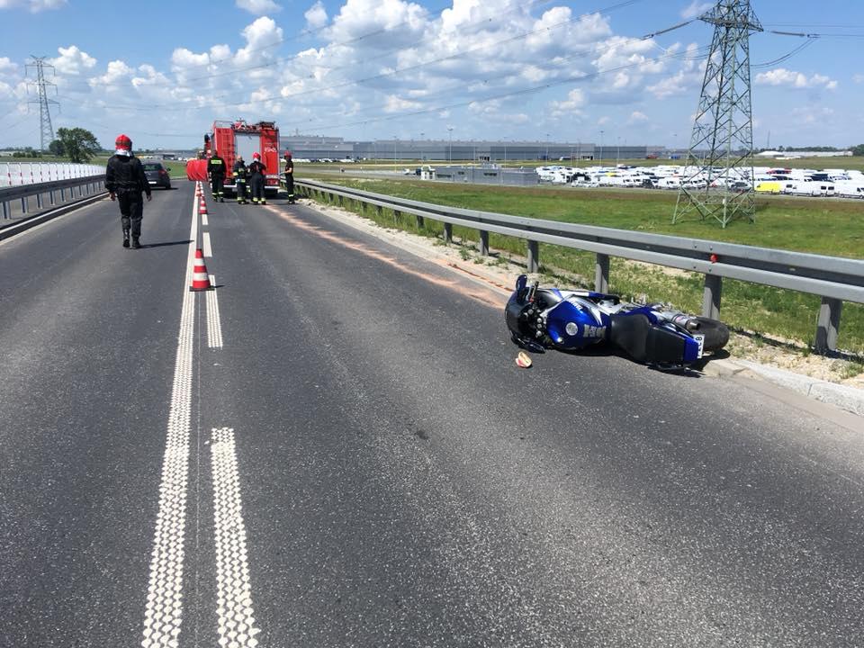 motocykjlista wypadek - OSP Kaczanowo
