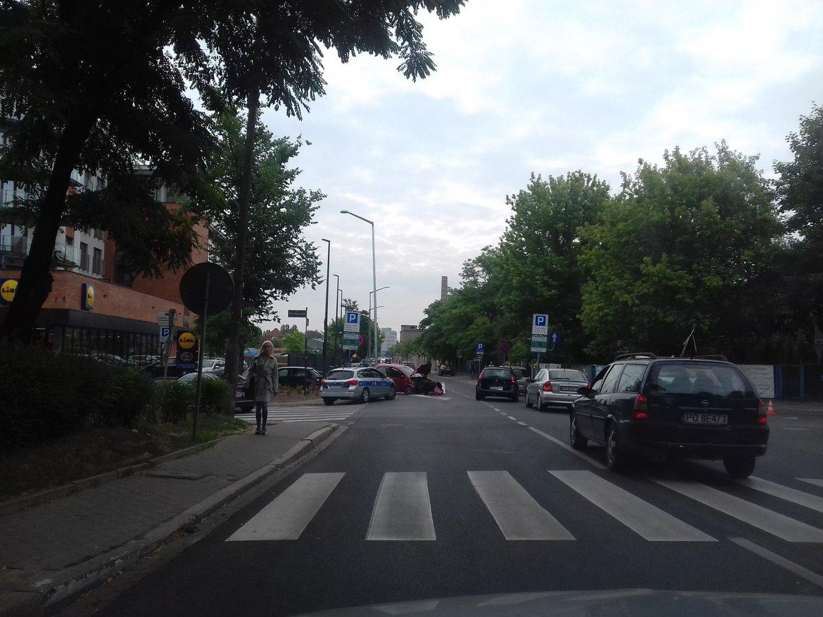 wypadek północna ulica poznań - Twitter/Motosygnały/Hegemon