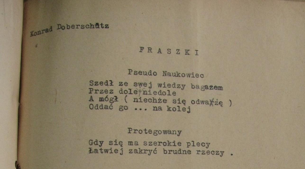 Zakazana Poezja Konrad Doberschütz Radio Poznań