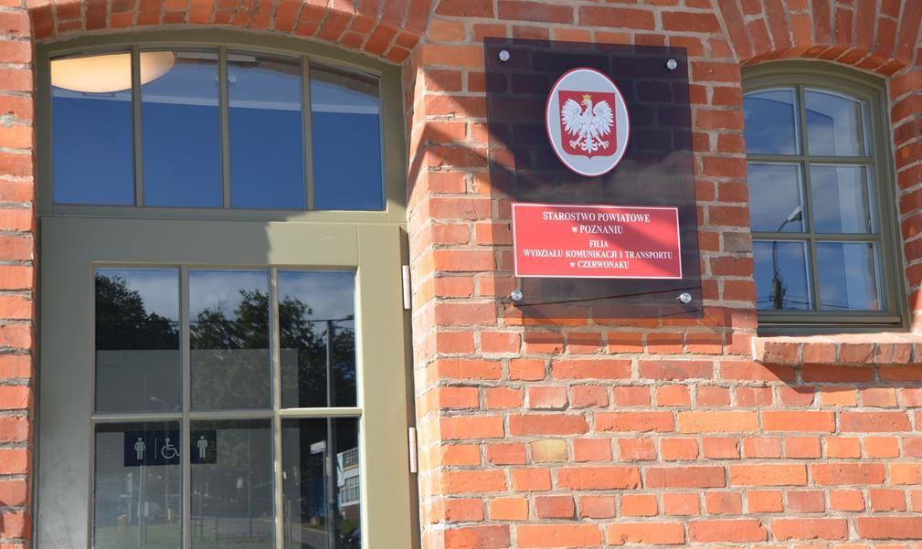 czerwonak filia wydziału komunikacji  - Starostwo Powiatowe w Poznaniu
