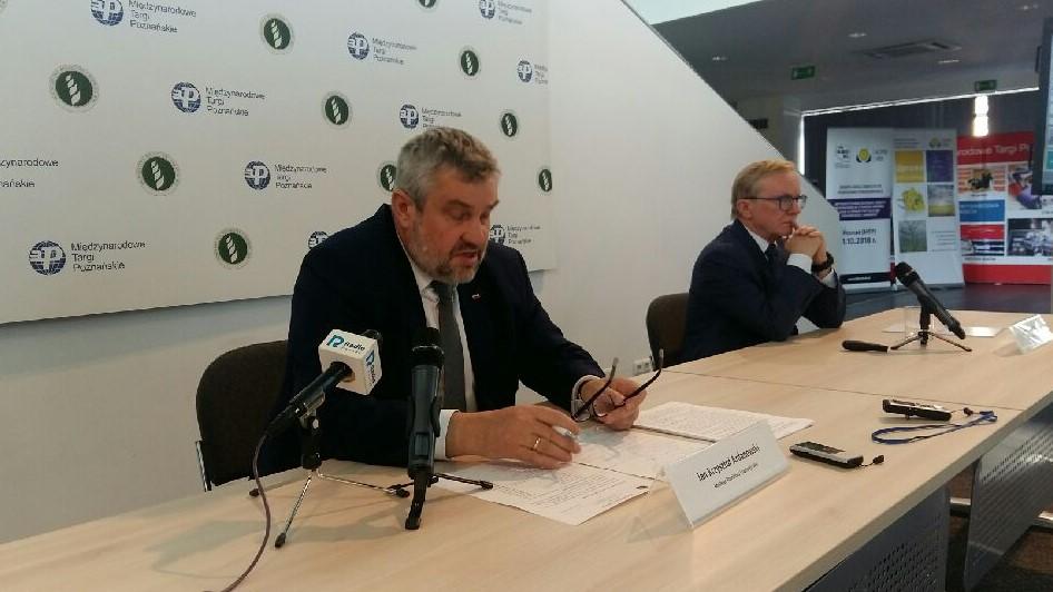 Minister rolnictwa na targach jan krzysztof ardanowski - Magdalena Konieczna