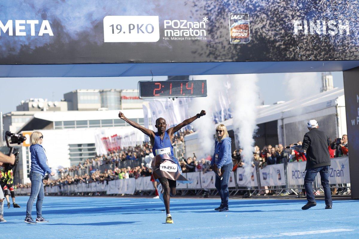 Zwycięzca 19 poznan maraton - Mateusz Szymandera - Poznań Maraton