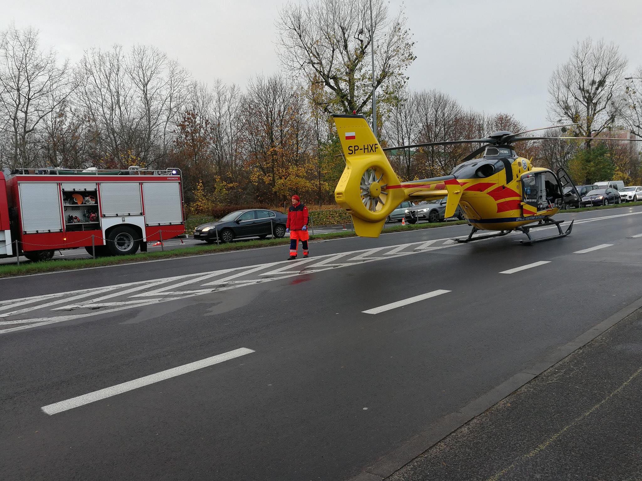 Wypadek Dąbrowskiego LPR Śmigłowiec - Maciej Wudarski Facebook
