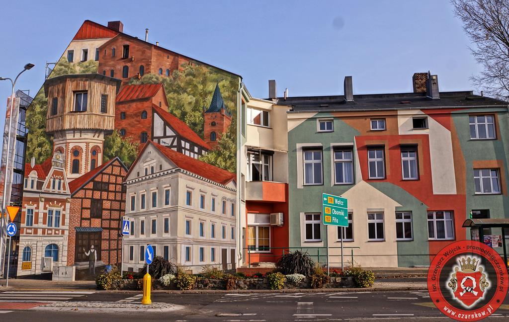 mural w czarnkowie 3d - Grzegorz Wójcik Promocja Czarnków