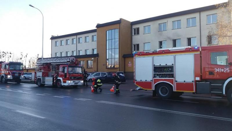 pożar urzędu skarbowego kalisz - PSP Kalisz