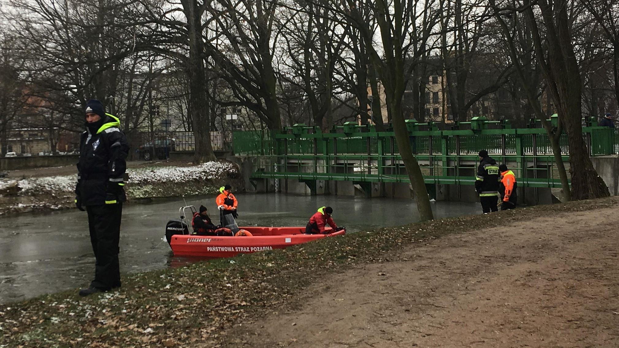 prosna łódź poszukiwania lód zima - Danuta Synkiewicz - Radio Poznań