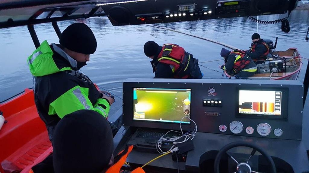 sonar poszukiwania strażacy osp mosina - OSP Mosina