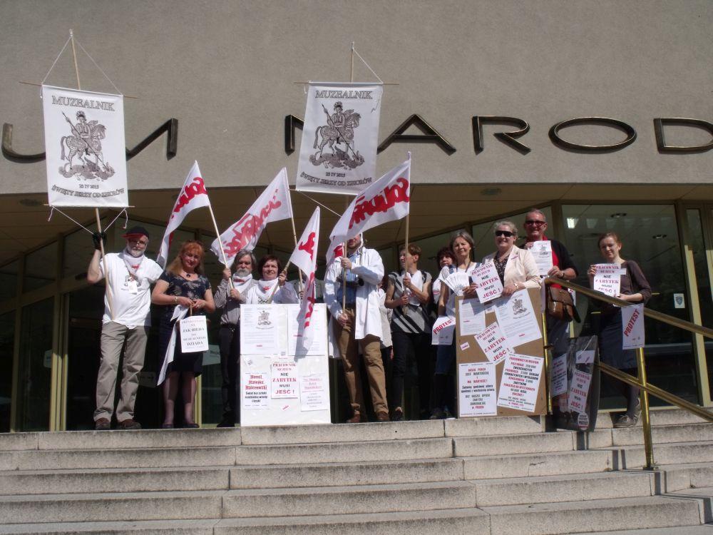 muzealnicy protest 2 - Jacek Kosiak