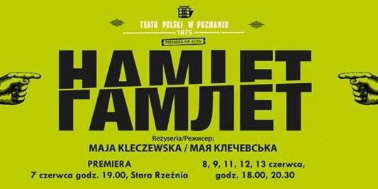 hamlet w starej rzeźni plakat - Teatr Polski