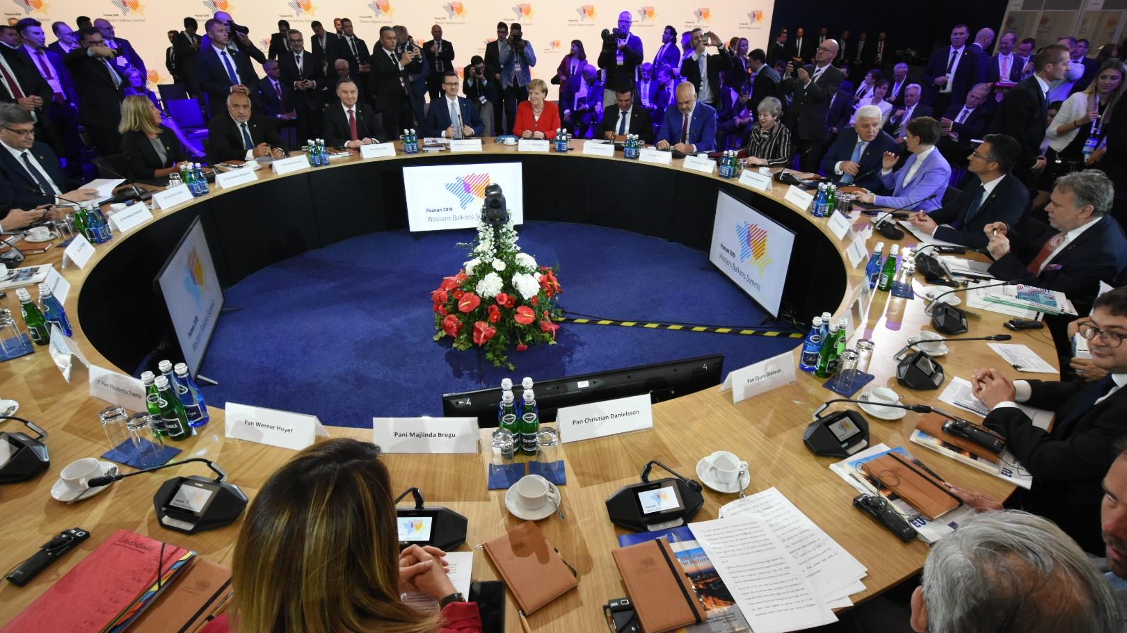 Szczyt bałkański dzień trzeci Andrzej Duda Angela Merkel Mateusz Morawiecki - Wojtek Wardejn