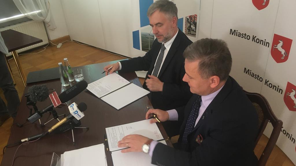 Konin ekologia umowa samorząd  - Sławoir Zasadzki