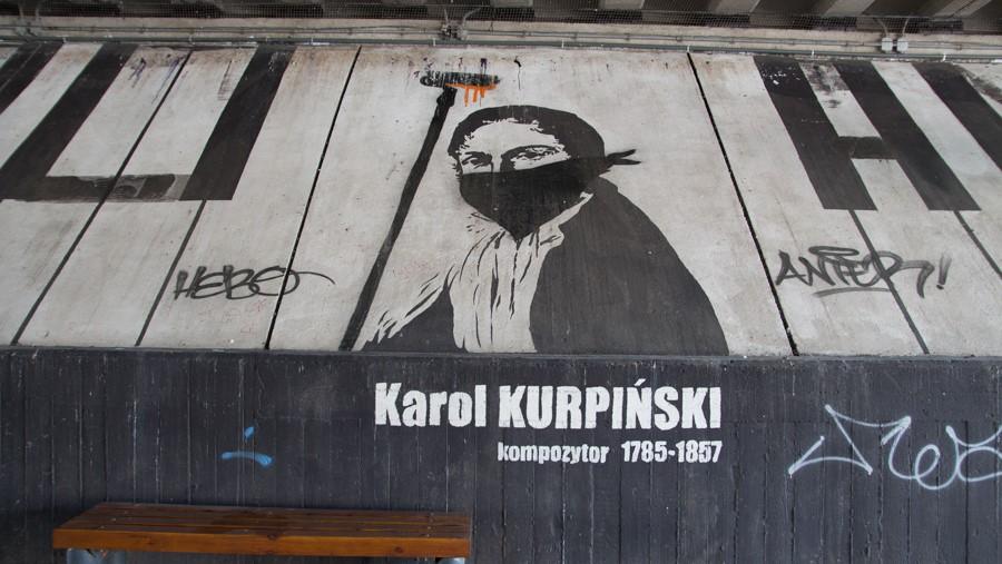 grafiti PST Karol Kurpiński - Leon Bielewicz