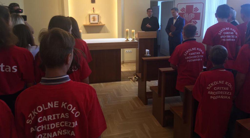 caritas tornistry swięcenie - Adam Michalkiewicz