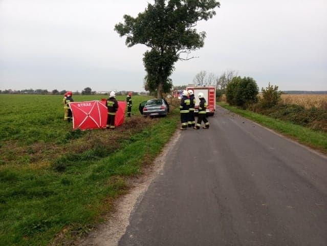 wypadek pod Jarocinem - KPP Jarocin