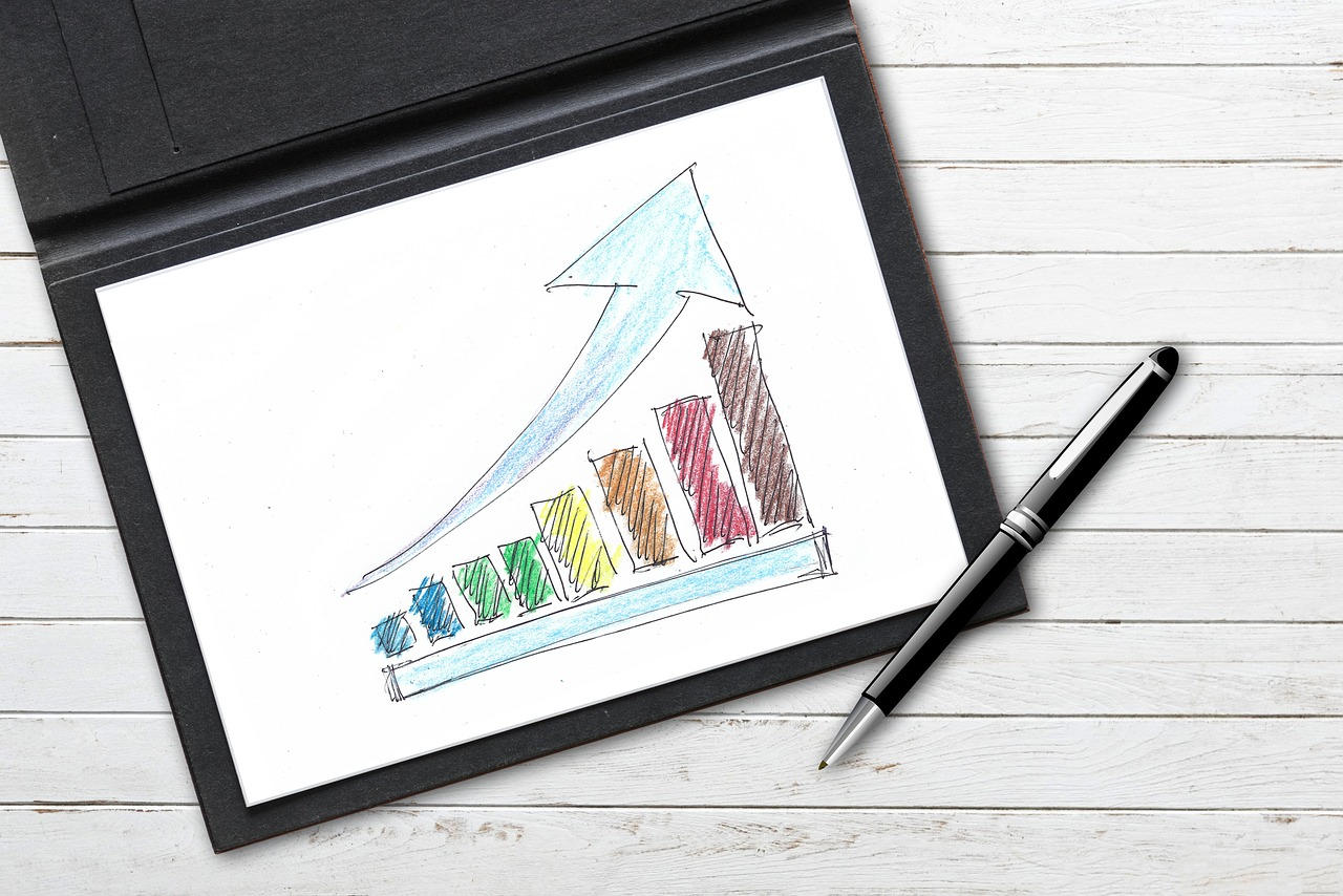gospodarka wykres rysunek stock - Pixabay