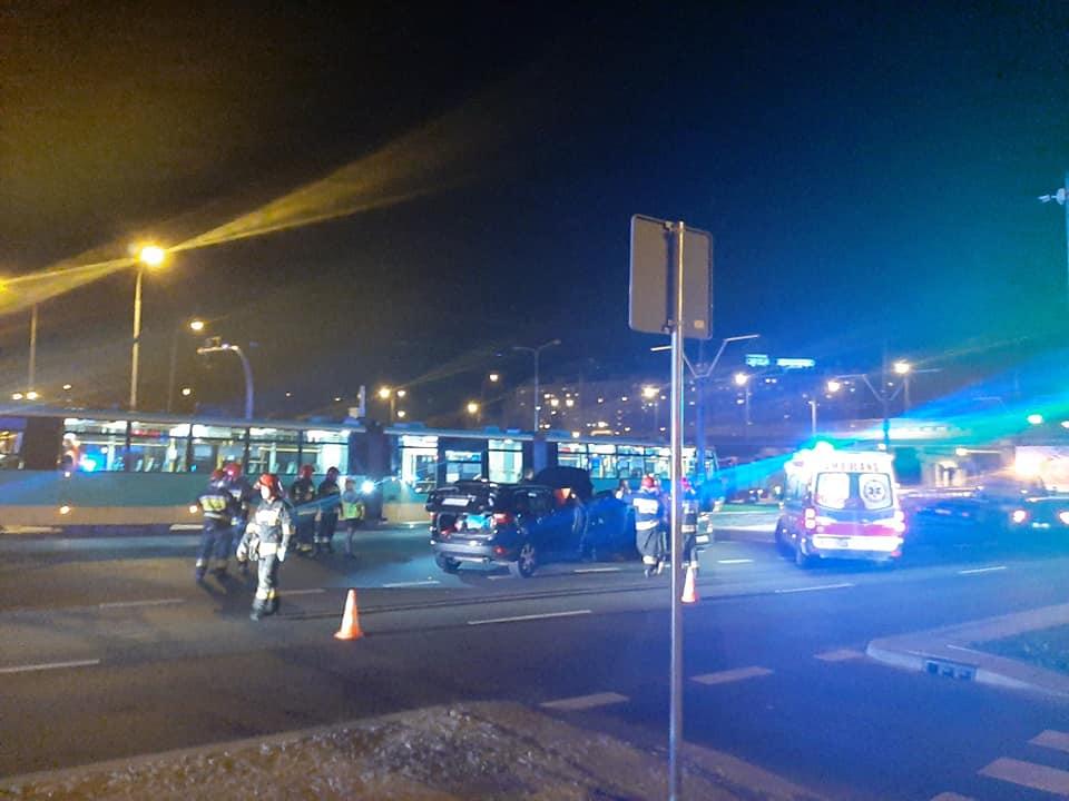 wypadek tramwaj Chartowo - Facebook - Gdzie jest wypadek w Poznaniu