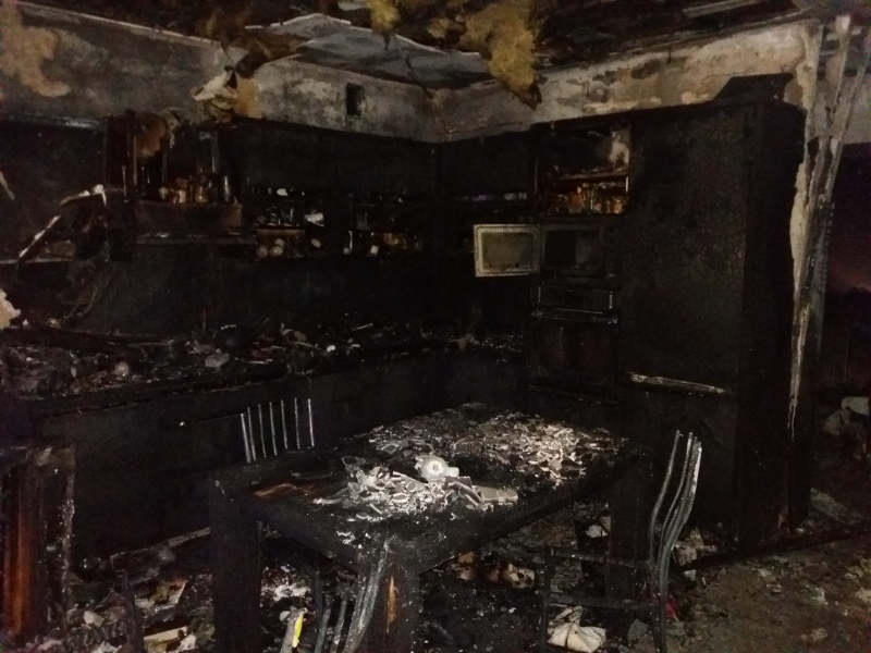 pożar stare oborzyska - PSP Kościan