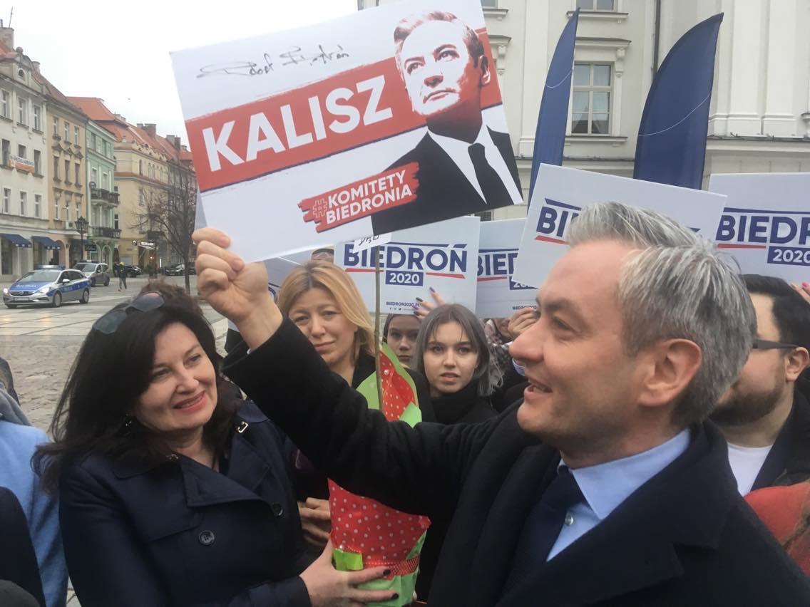 robert biedroń  w kaliszu - Danuta Synkiewicz